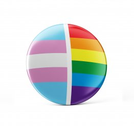 Transgender pin button