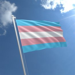 Transgender - 3' x 5' Polyester  Flag w/Metal Grommets and a Cotton Heading
