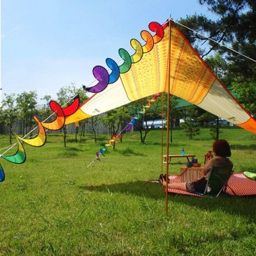 Rainbow Spiral Windmill Colorful Wind Spinner Garden Home Decorations