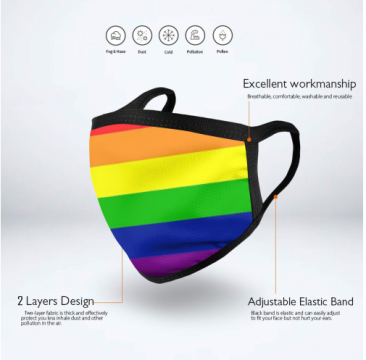 Progress Pride Rainbow Face Mask - Limited Quantity Available NOW SHIPPING
