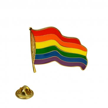 Rainbow Pride Wavy Lapel Pin
