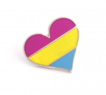 Pansexual Pride Heart Lapel Pin