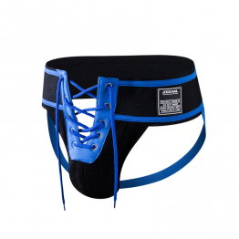 "JOCKMAIL 3.15"" Waistband Footballer Lace-Up Jockstrap"